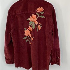 AE Oversized Embroidered Corduroy Top. Sz. XXL